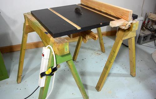With Table, Slots, Fence And Depth Adjust Mechanism, The Homemade Table Saw  Is Fully Usable. But It Still Needs A Stand.