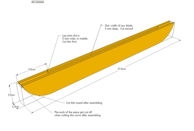 Jewellery rack plan