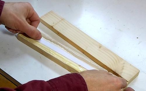how to glue two pieces of wood together to make a thick piece 2
