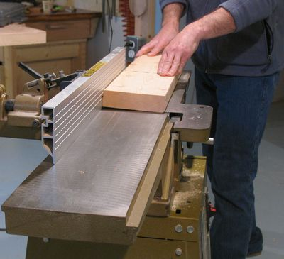 Squaring Twisted Lumber On The Jointer