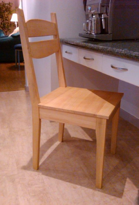 ken and morgan's kitchen chair project