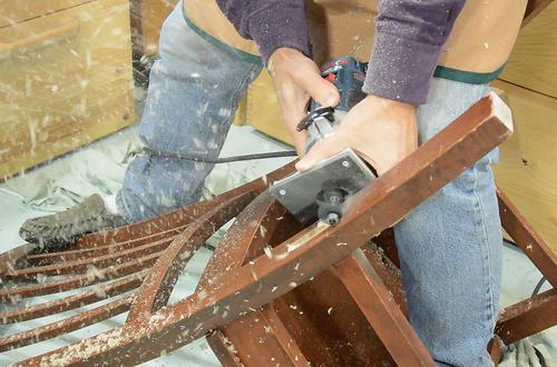 Repairing a broken chair leg