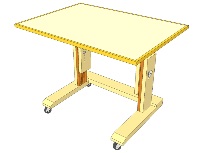 Laptop table (wheely desk) plans