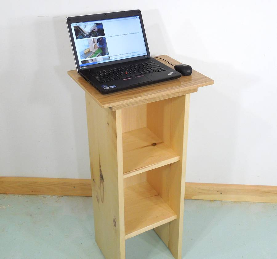 Stand Up Laptop Computer Table