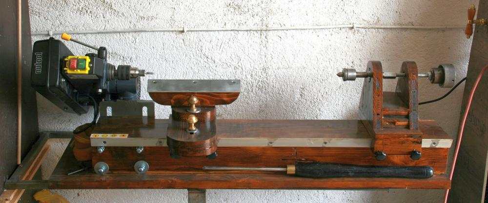 diy wood lathe plan
