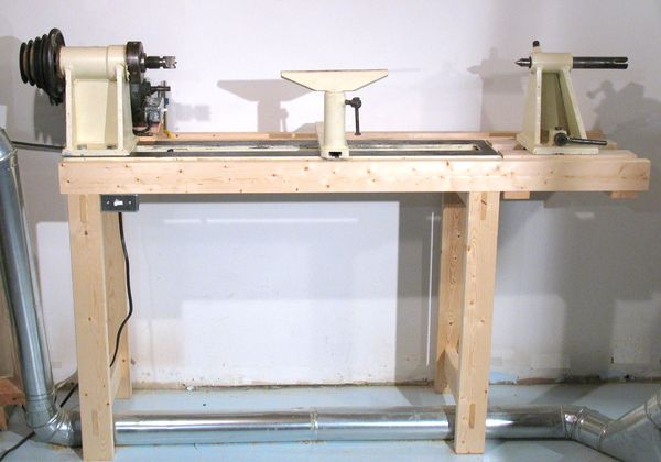 Woodworking wood lathe table plans PDF Free Download