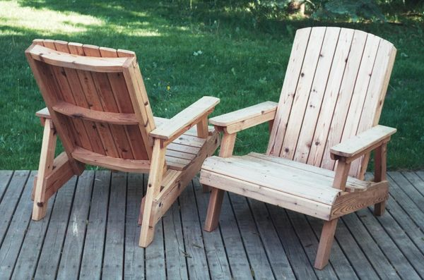 Lawn chairs for Sillas madera jardin