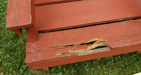 Wood Rot Fixing Lawn Chairs