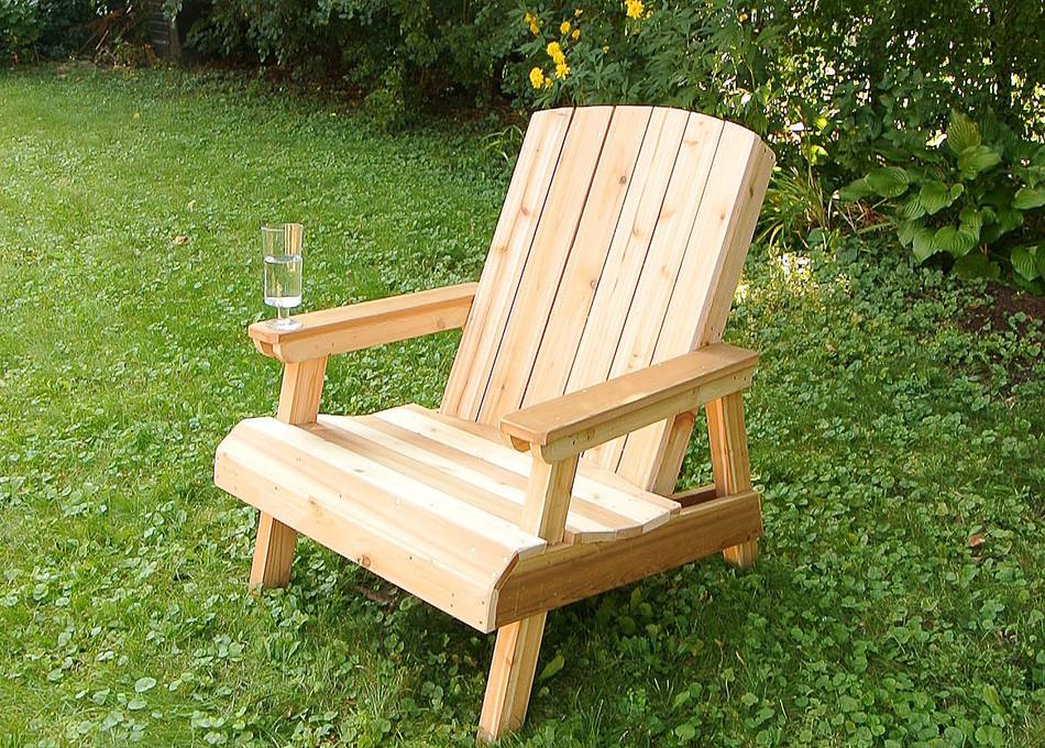 how to build outdoor wooden chairs