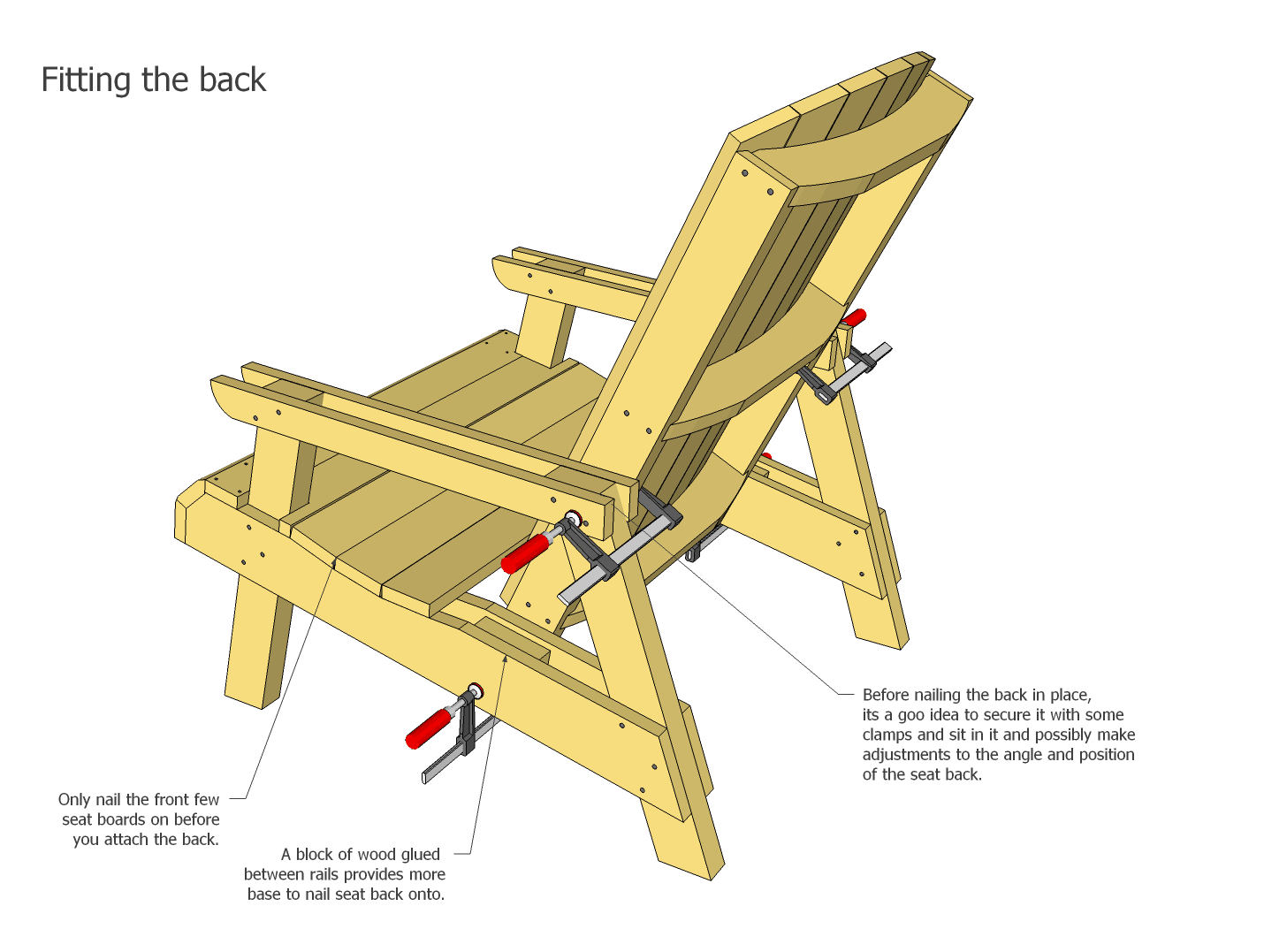 How to make a simple wooden chair - Assembly