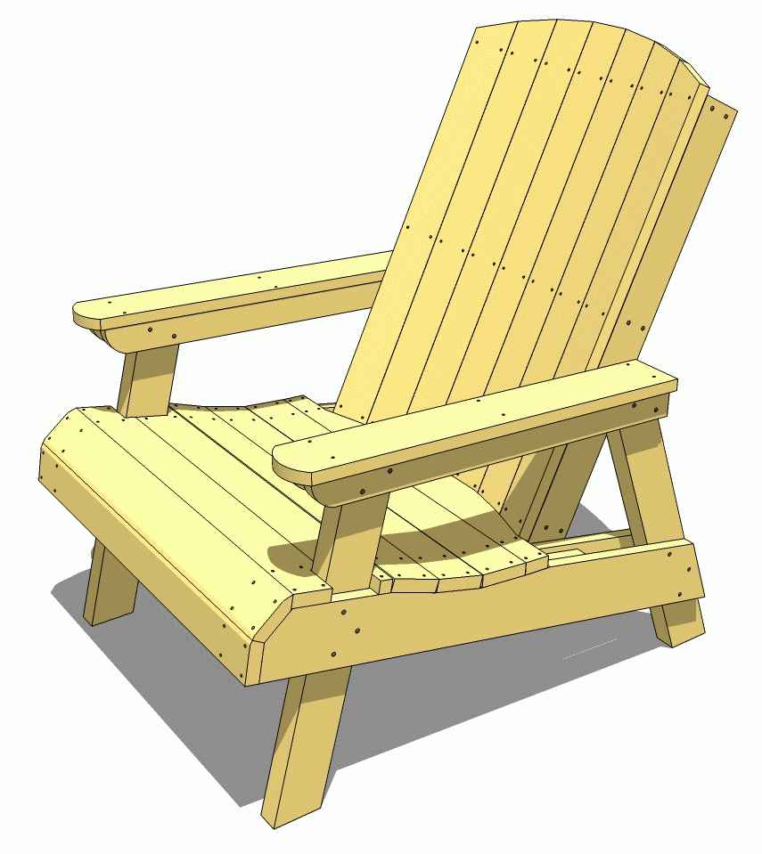 adirondack lawn chair woodworking plan