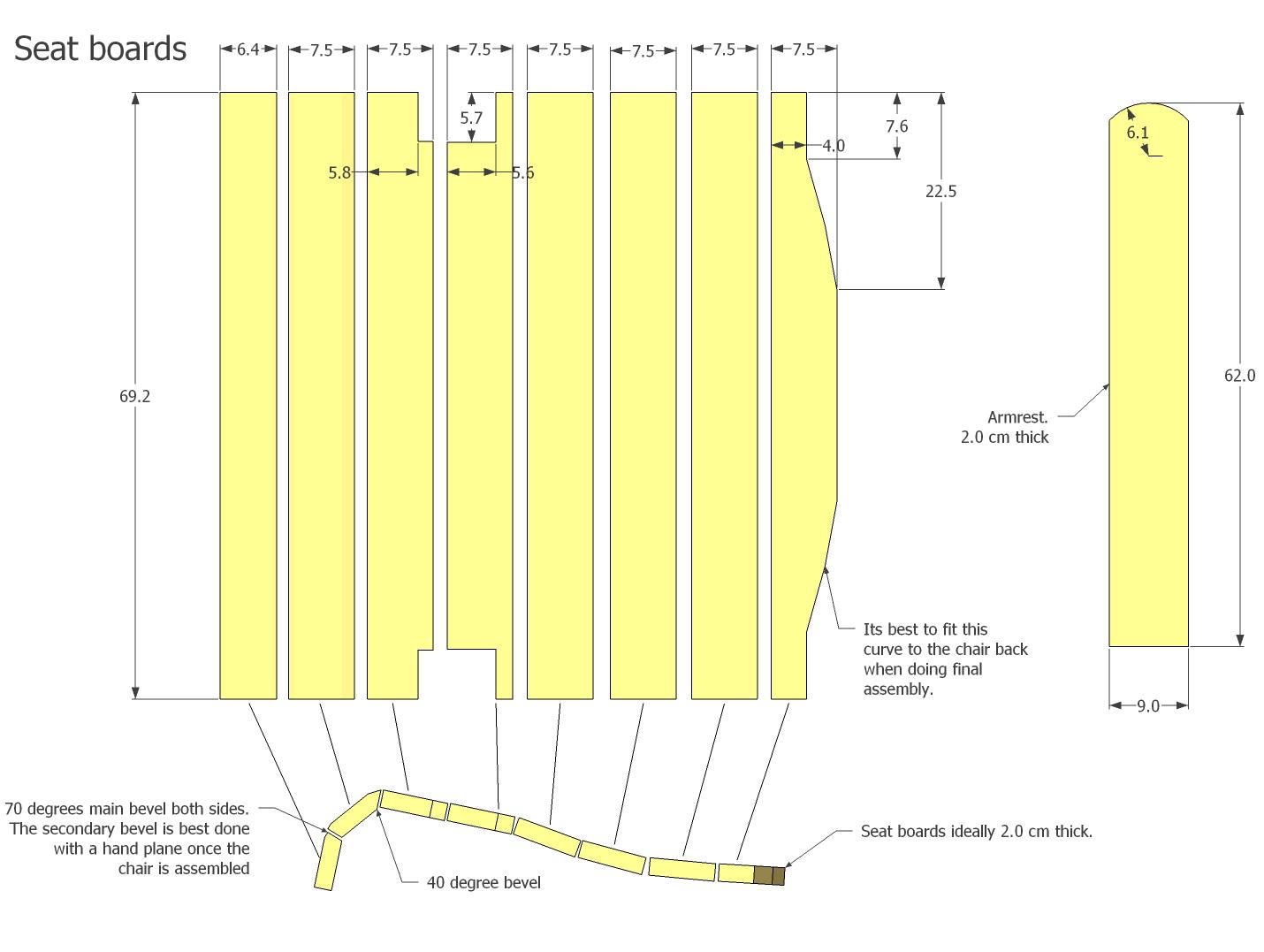 Planos de silla de jardin