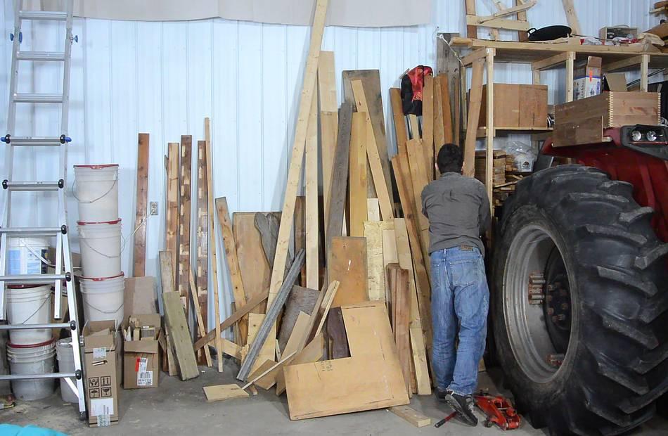 Triple tenon joined lumber rack for Vertical lumber storage rack
