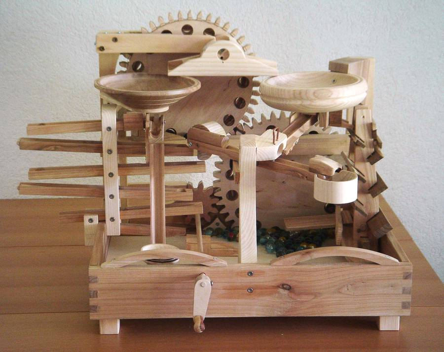 wooden marble run plans free | woodideas