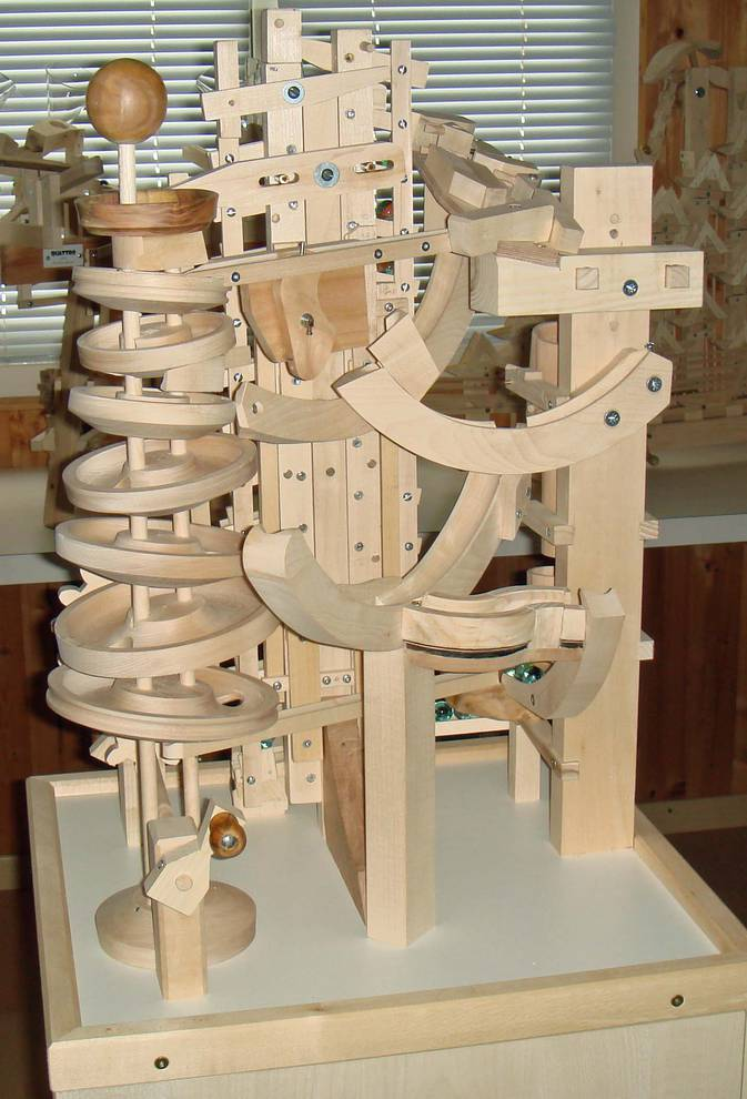 wooden marble machine