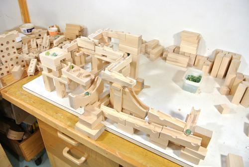Tracks Built With The Marble Run Building Blocks