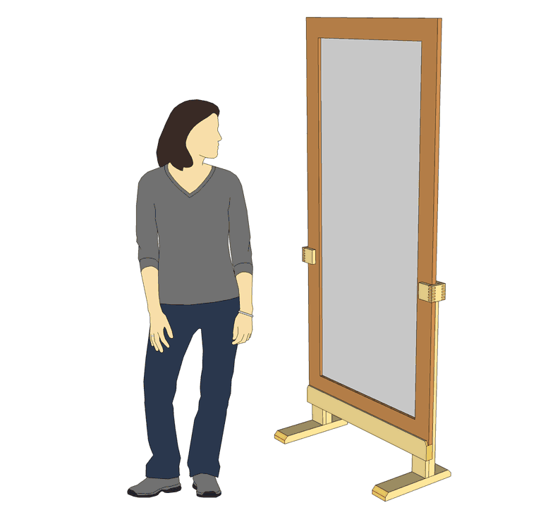 Building a large mirror stand for Mirror stand