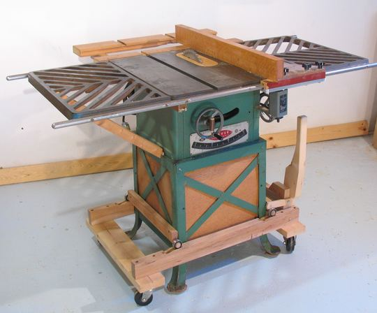 Table Saw Mobile Base Build