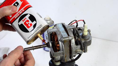 Fixing a seized oscillating fan motor for Electric motor oil lubrication
