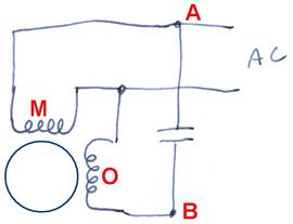 Reversing single phase induction motors on