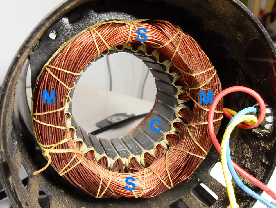 Single Phase Motor Wiring Diagram With Capacitor Start : Reversing single phase induction motors