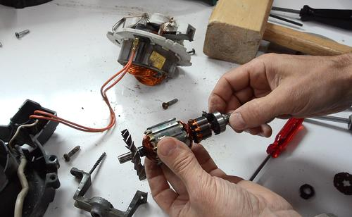 Shopvac bearing oiling disassembly for Shop vac motor brushes