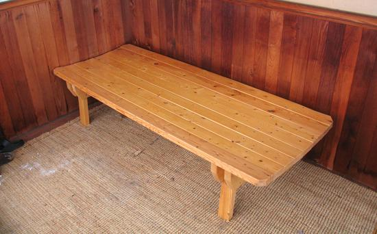 Patio bench (for napping on)