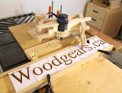 router templates for signs - making 3d letters with the pantograph