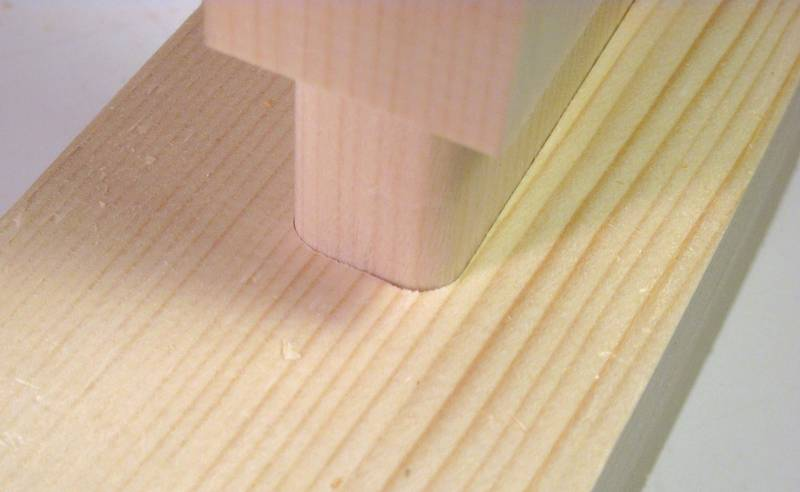 You know your mortise and tenon joint makes a good fit if it goes ...
