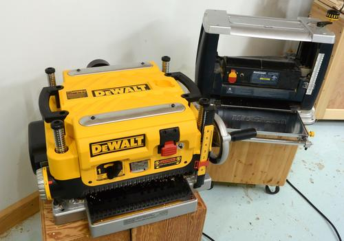 DeWalt DW735 thickness planer vs  a cheap one (review)
