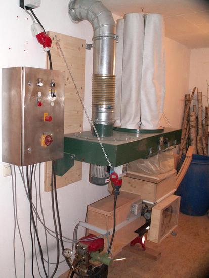 Wood Briquette Press ~ Alois s wood briquette press