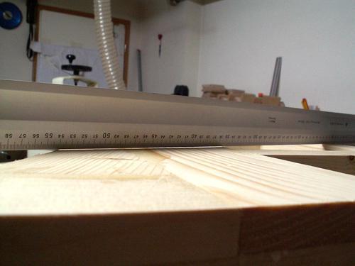 bandsaw table flatness 2