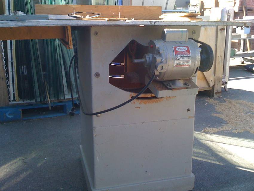 Homemade bandsaw and gilliom based table saw spotted for 1 hp table saw motor