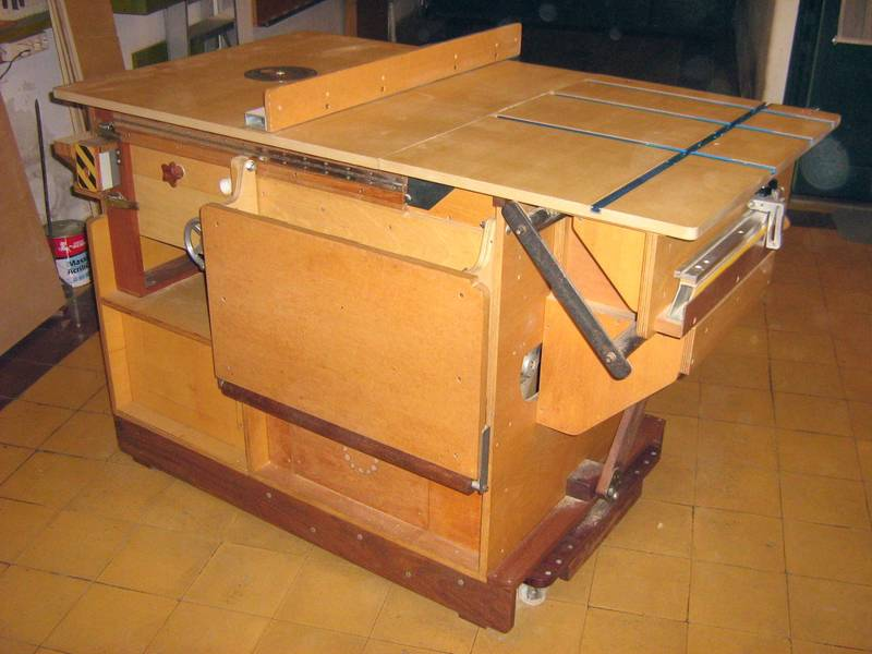 Homemade Table Saw Plans : Hector Acevedos homemade table saw