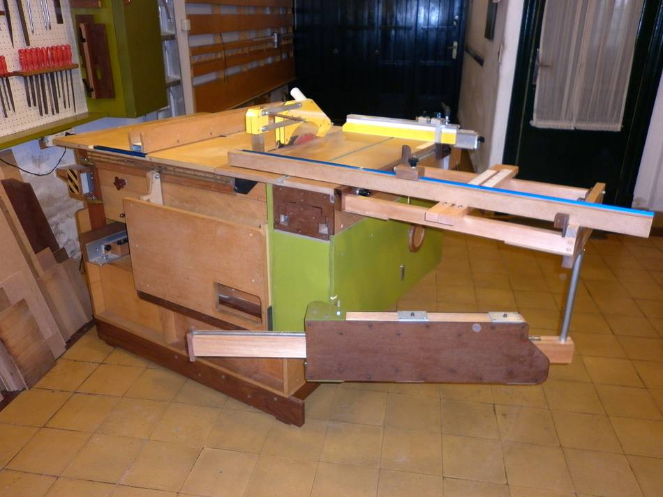Sliding Tablesaw Homemade : ... it to a format style table saw with a sliding table and outrigger
