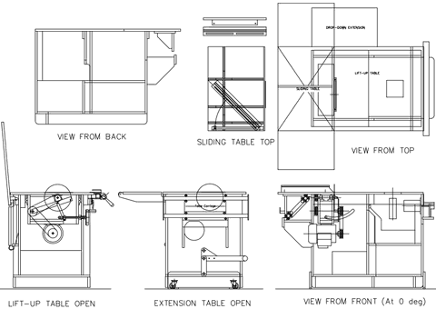 Panel Saw Drawing Cad Drawings of The Saw