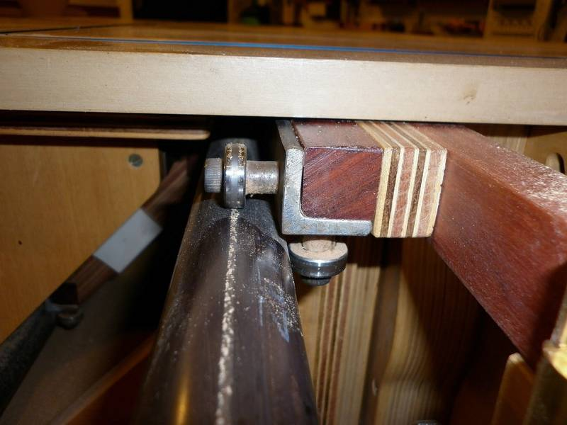 Sliding Tablesaw Homemade : All mounts are eccentric to allow for adjustment. The wholeunit works ...