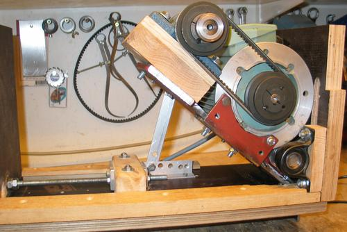 Home made table saw the plate that mounts the motor and arbour can be tilted around a shaft with two pairs of bearings the plate red is made of 10 mm thick steel greentooth Choice Image