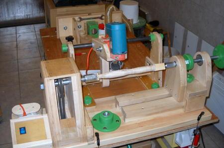 wooden router lathe plans 2