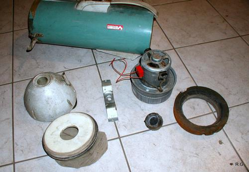 Ryszard's small dust collector from a vacuum cleaner