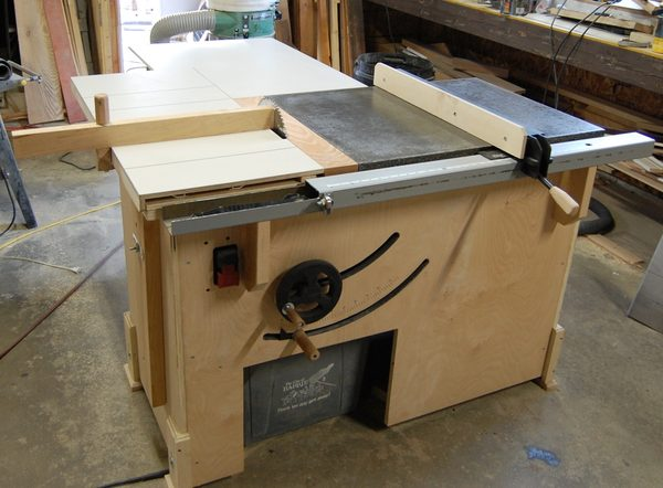 John Heisz's homemade table saw