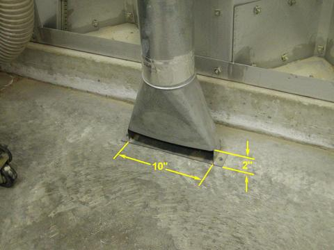 Dust Collector Floor Sweep Adaptor