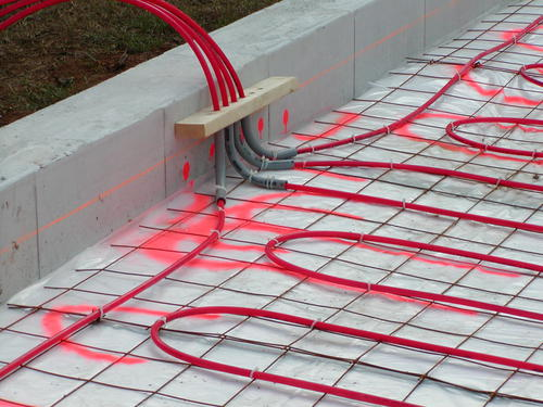 The PEX Should Be Connected To A Temporary Manifold So You Can Keep It  Pressurized Until The Concrete Floor Is Completed. Concrete Workers Are  Notorious For ...