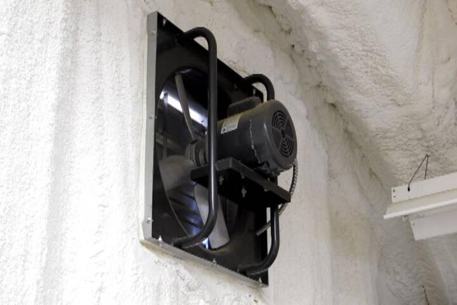 Garage Exhaust Fan : Building my steel garage