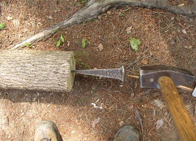 This Consists Of Equipment His Own Design To Help Mill A Log Into Lumber On Location Cuts Down
