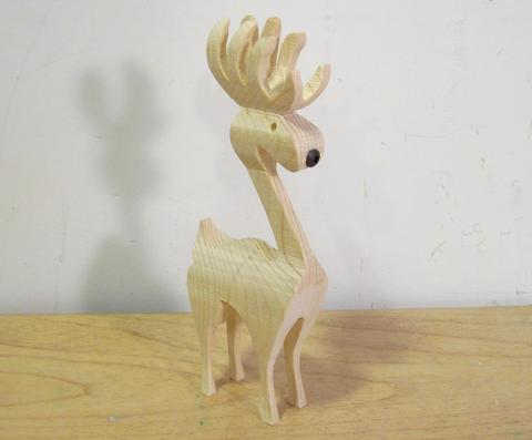 Cutting A 3 D Reindeer On The Bandsaw