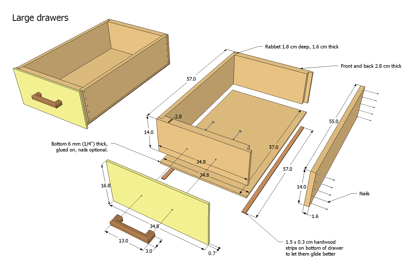 Plan Table Drawer