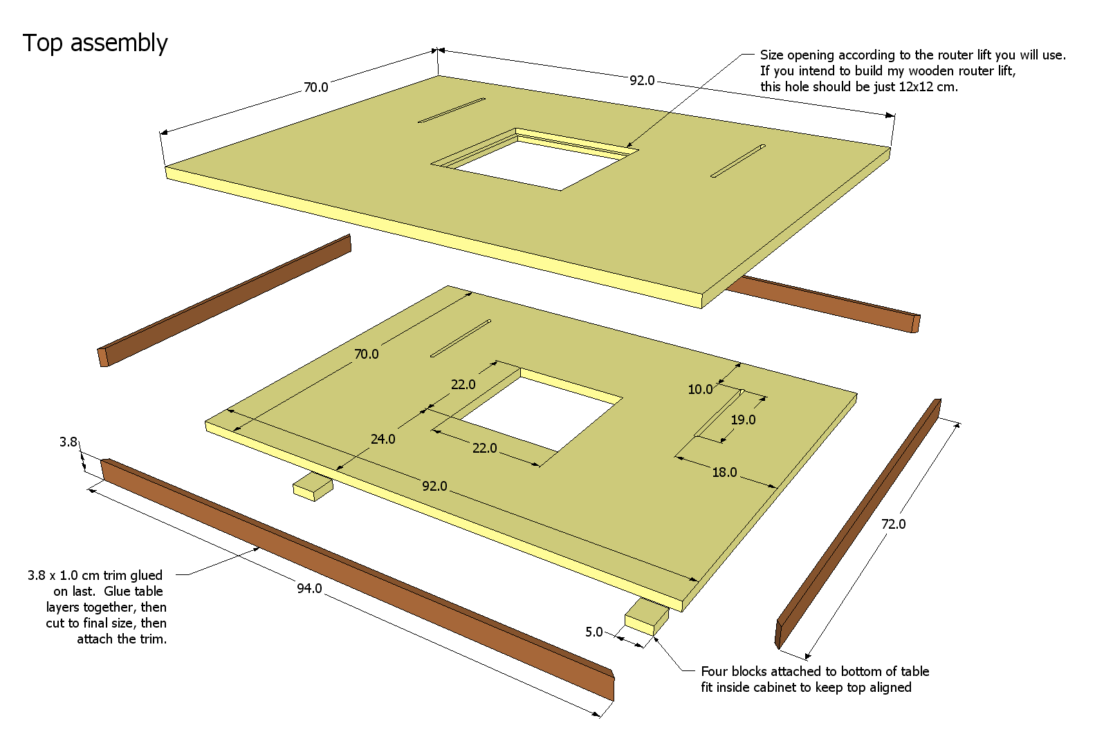 Router table plans for How to make a router table stand