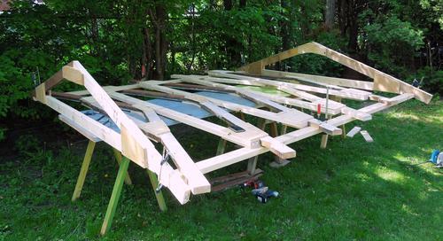 Как сделать крышу для сарая