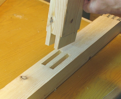 Shelf Supports With Double Tenon Joints